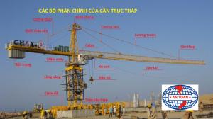 Tính toán vị trí đặt cẩu tháp cho công trình