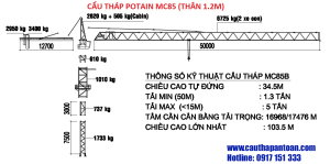 Catalogue Cẩu tháp Potain